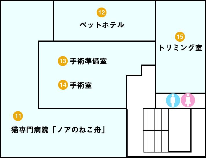 ノア動物病院2階